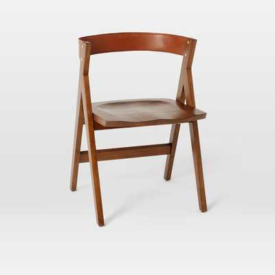 """Michael Robbins """"A-Frame"""" Leather Back Dining Chair - West Elm"""