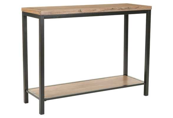 Roslyn 2-Shelf Console, Wood/Iron - One Kings Lane