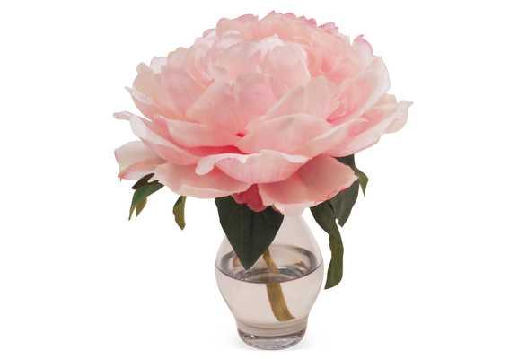 "7"" Peony in Vase, Faux, pink - One Kings Lane"