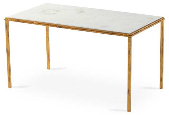 Griffith Marble Coffee Table, luxury, White - One Kings Lane