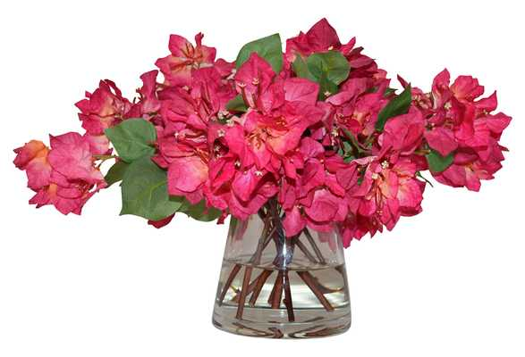"""22"""" Bougainvillea in Vase, Handcrafted, Faux, pink - One Kings Lane"""