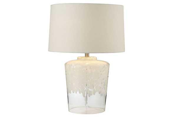 Glass Table Lamp, White - One Kings Lane