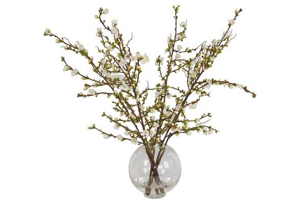 "31"" Cherry Blossom Arrangement, Handcrafted, Faux - One Kings Lane"