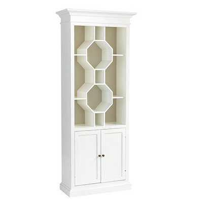 Octavia Bookcase - Soft Gloss White - Ballard Designs
