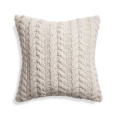 """Reagan 18"""" Pillow w/ feather down insert - Crate and Barrel"""