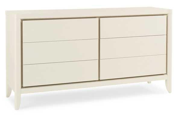 Bianca 6-Drawer Dresser, contemporary, Off-White - One Kings Lane