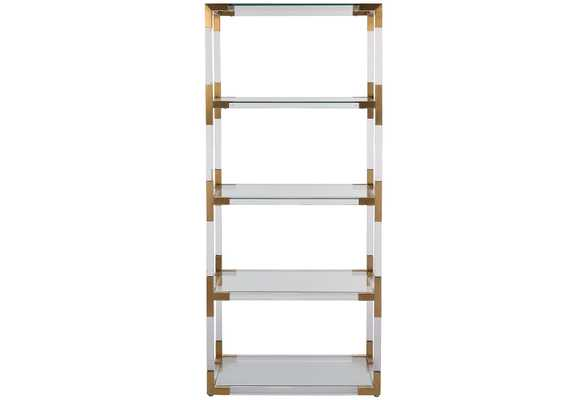Madeleine Bookcase, contemporary, Gold - One Kings Lane