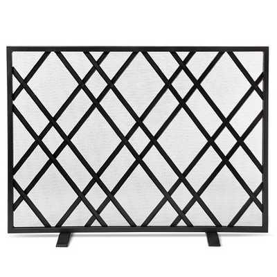 Lattice Fireplace Screen - Matte Black Finish - Threshold™ - Target