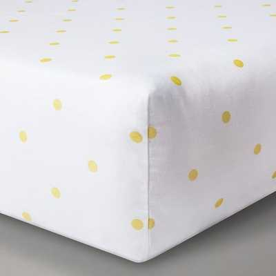 Circo™ Woven Fitted Crib Sheet - Gold Dots - Target
