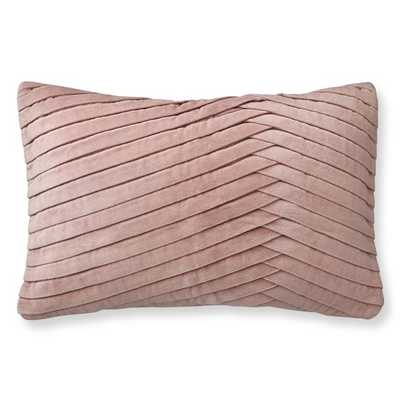 Pleated Velvet Pillow Cover, Blush - Williams Sonoma Home