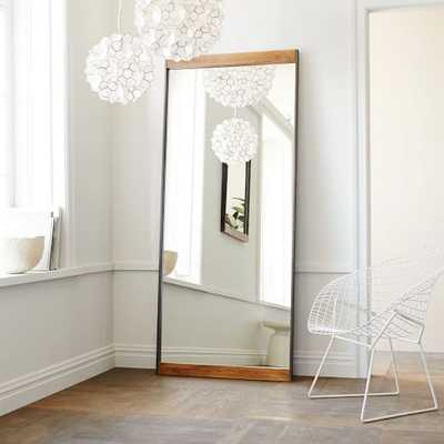 Metal + Wood Floor Mirror - West Elm