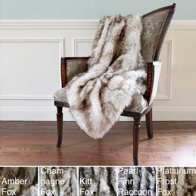 Aurora Home Wild Mannered Luxury Long Hair Faux Fur 58 x 36-inch Lap Throw - Overstock