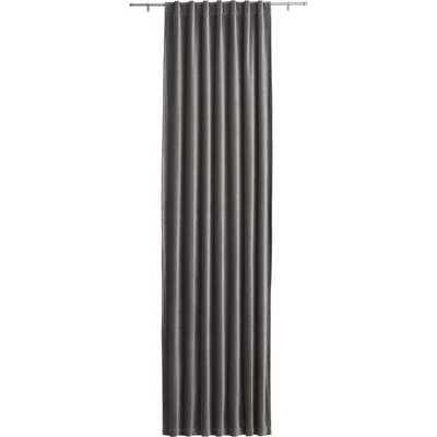 """Velvet graphite curtain panel 48""""x120"""" - CB2"""