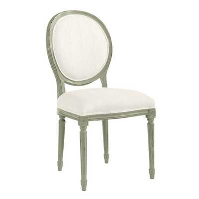 Lacquer Oval Louis Side Chair - Ballard Designs