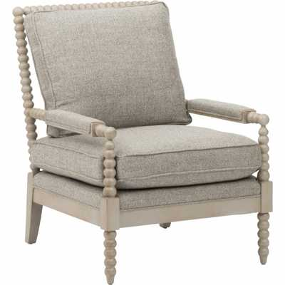 Lana Wood Frame Chair, Taft Pewter - High Fashion Home