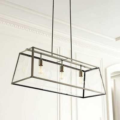 Eldridge Rectangular Chandelier - 40'' Satin Nickel - Ballard Designs