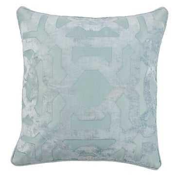 "Modello Pillow 22"" - Venetian Blue- Feather/Down insert - Z Gallerie"