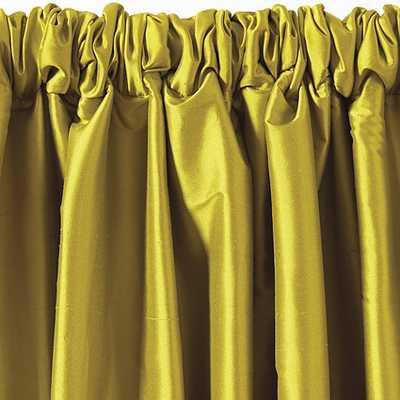 """Dupioni Silk Drapery Panel -Chartreuse - 96"""" L - Ballard Designs"""