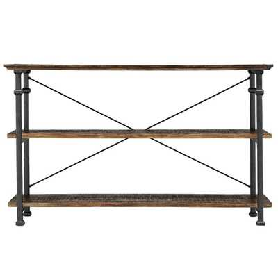 Myra Vintage Industrial TV Stand - Bistre brown - Overstock