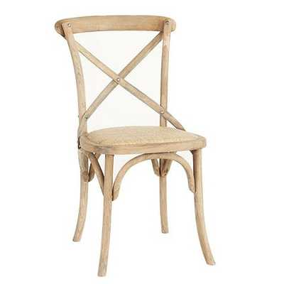 Constance Wood Side Chairs - Set of 2 - Weathered Oak - Ballard Designs