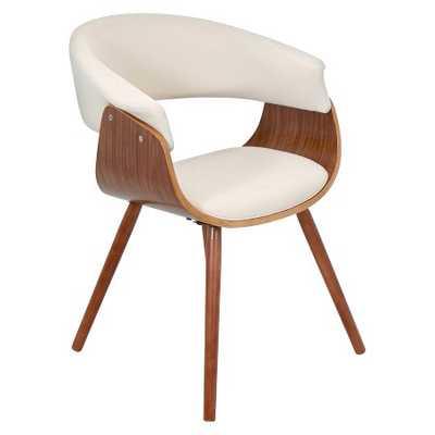 Vintage Mod Dining Chair Wood/Beige - LumiSource - Target