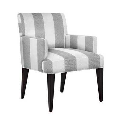 Jackson Armchair [fabric : Panama Stripe - Grey] - Serena and Lily