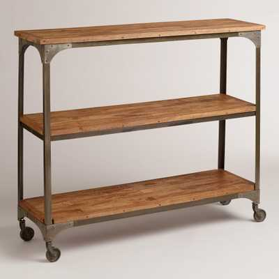Wood and Metal Aiden 3-Shelf Console Table - World Market/Cost Plus