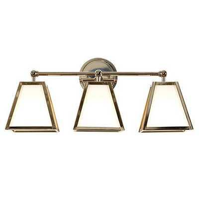 Amelie Vanity Triple Sconce Lighting - Polished Nickel - Ballard Designs