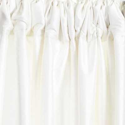 "Dupioni Silk Drapery Panel - White, 84""L - Ballard Designs"