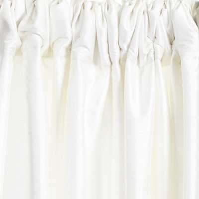 "Dupioni Silk Drapery Panel - White, 96""L - Ballard Designs"