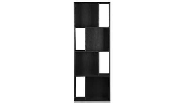 "Shift Black 74"" Bookcase - Crate and Barrel"