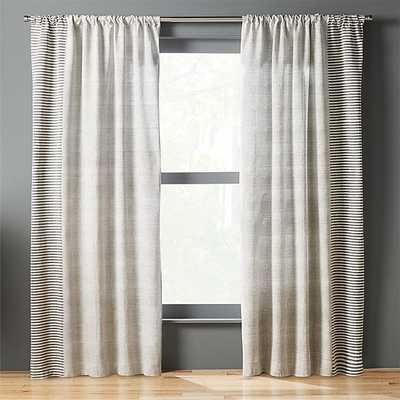"block printed stripe curtain panel - 96"" - CB2"