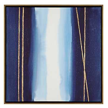 Gilded Sapphire - 31.5''W x 31.5''H - Framed (Gold) - Z Gallerie