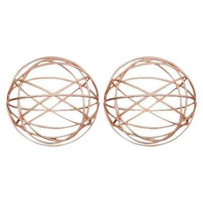 Set of 2 Decorative Metal Balls - Copper Finish - Target