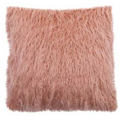 """Faux Fur Pillow (18"""") - Pink - Threshold - Target"""