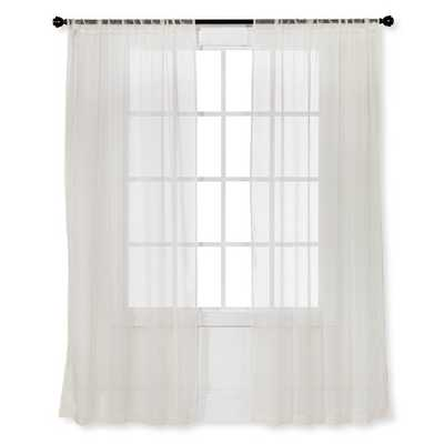 "Sheer Curtain Panel 2pk - Room Essentials™ - Ivory - 40""W x 63""L - Target"