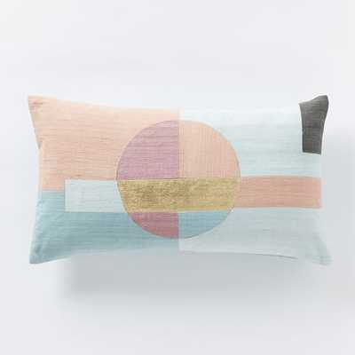 Roar + Rabbit Circle Pillow Cover - Flax - 12x21 - Insert Sold Separately - West Elm