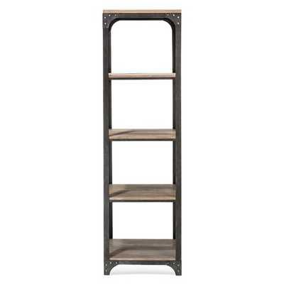 Franklin 5 Shelf Narrow Bookcase - The Industrial Shop™ - Target