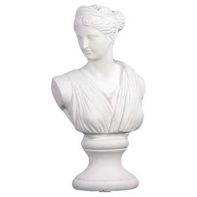 White Cement Woman Statue - Overstock