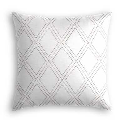 """Diamonds Are Forever, Ash - 18"""" x 18"""" - Poly Insert - Loom Decor"""