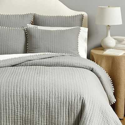 Audree Pom Pom Quilt Bedding - Twin - Ballard Designs
