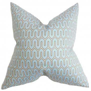 "Aleeza Geometric Pillow - 20"" x 20"" - Down insert - Linen & Seam"