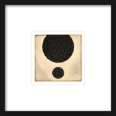 Five Elements - Porous #57 - 8''x8'' - Thin black frame - Artfully Walls