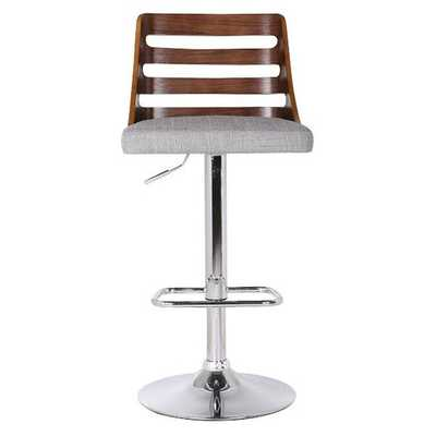 Adjustable Height Swivel Bar Stool with Cushion - AllModern