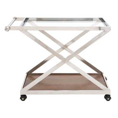 Cool Stainless Steel Wood Glass Serving Cart - AllModern