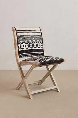 Terai Folding Chair - Orange Stitch - Anthropologie
