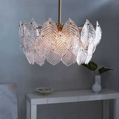 Glass Leaf Chandelier - West Elm