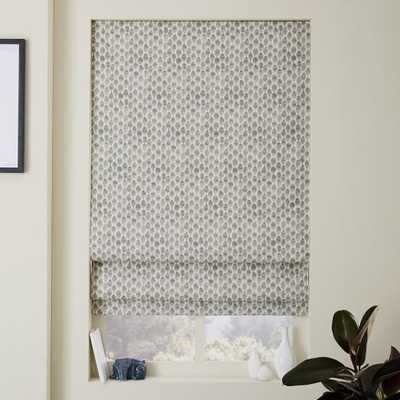 "Stamped Dots Printed Roman Shade + Blackout Liner - 26""W - West Elm"