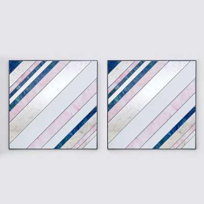 Pieced Glass Wall Art-Set of 2 - West Elm