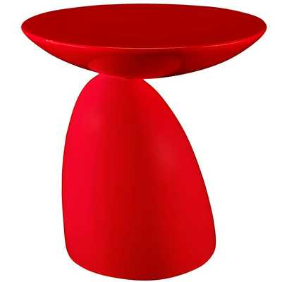 FLOW SIDE TABLE IN RED - Modway Furniture